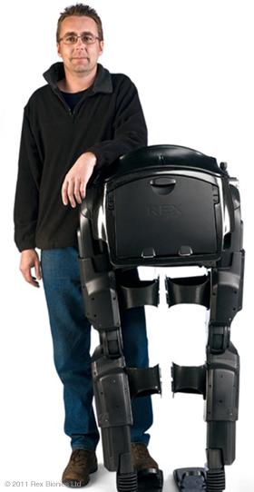 Exoesqueleto robótico con micromotor cc