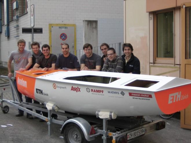barco solar con micromotores