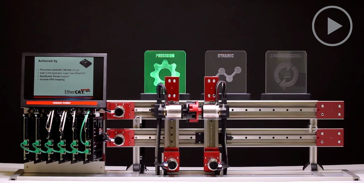 micro motor DC ethercat sincronizacion
