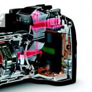 Micromotor en obturador de una cámara Leica
